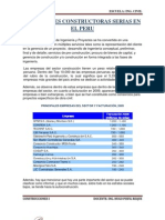 Principales Constructoras Serias en El Peru