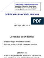 DIDÁCTICA EN LA EDUCACIÓN  CRISTIANA