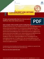 Fake Job Offers-Sample Emails