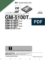 Pioneer GM-5100T ServiceManual