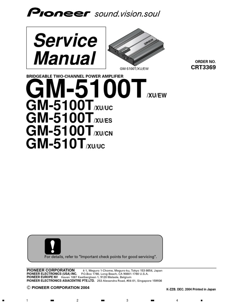 Pioneer Gm 120 Wiring Diagram Diagrams Channel 4 Library Ignition