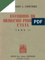 Estudios de Derecho Procesal Civil - Tomo II - Eduardo Couture