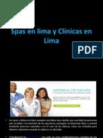 Spas En Lima Y Clínicas En Lima