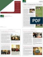 McCarthy Center Newsleter Spring 2009 (The Common Good)