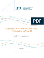 draft australian curriculum the arts foundation to year 10 july 20121