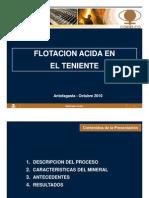 05 Flotación Acida en El Teniente, R. Moya
