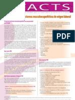 Factsheet 71 - Introduccion a Los Trastornos Musculoesqueleticos de Origen Laboral (1)