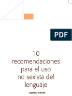 10 recomendaciones para el uso no sexista del lenguaje
