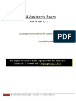 RBI Assistants Exam Previous Year Solved Paper (5)