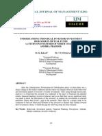 Understanding Individual Investors Investment Behavior in Mutual Funds