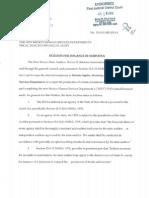 HSD Audit Subpoena