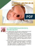 Termoregulacion en El Recien Nacido