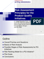 FDA Risk Assessment Principles for the Product Quality Initiatives
