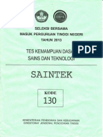 Soal Sbmptn 2013 Tkd Saintek (130)