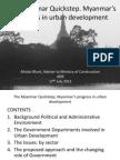 The Myanmar Quickstep, Myanmar's progress in