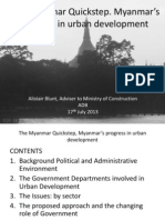 The Myanmar Quickstep, Myanmar's progress in