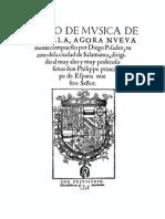 Pisador - Libro de Musica de Vihuela