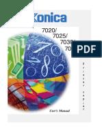 konica 7020 user manual