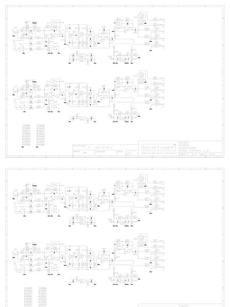 Behringer Europower-p0569 Hca2400 Sps1000 Dpx Pmp-1280s