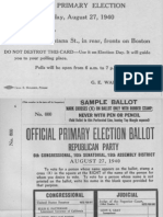 Direct Primary Election Aug. 1940
