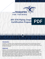 API 570 Piping Inspector Certification Preparatory