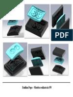 Matrita realizata in SolidWorks