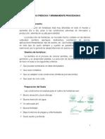 Guía de HORTALIZAS FRESCAS Y MÍNIMAMENTE PROCESADAS