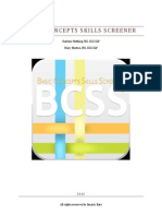 Basic Concepts Skills Screener (BCSS) Manual
