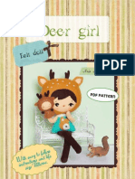 Deer Girl Pattern felt