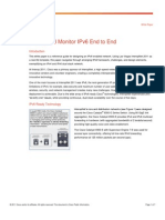 Deploy and Monitor IPv6 End to End