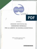 Sessione Costitutiva del Congresso Mondiale per la Libertà Scientifica