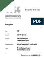 OVSG Leerplan Architecturale en Binnenhuiskunst 3de Graad KSO