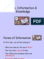 1-1 Data, Information and Knowledge