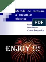Metode de Rezolvare a Circuitelor Electrice