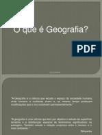 1 - O que é geografia