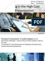 Reigning in the High Cost of 'Presenteeism'