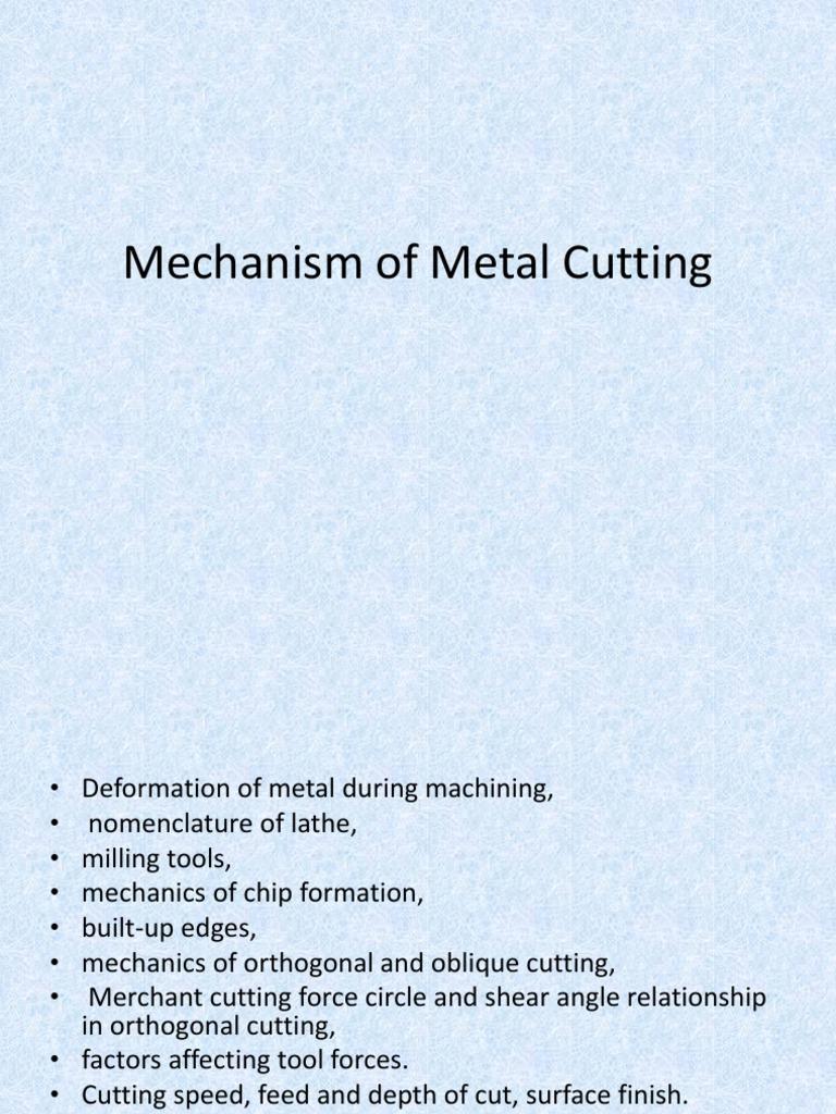 Mechanism of metal cuttingppt machining fracture ccuart Choice Image