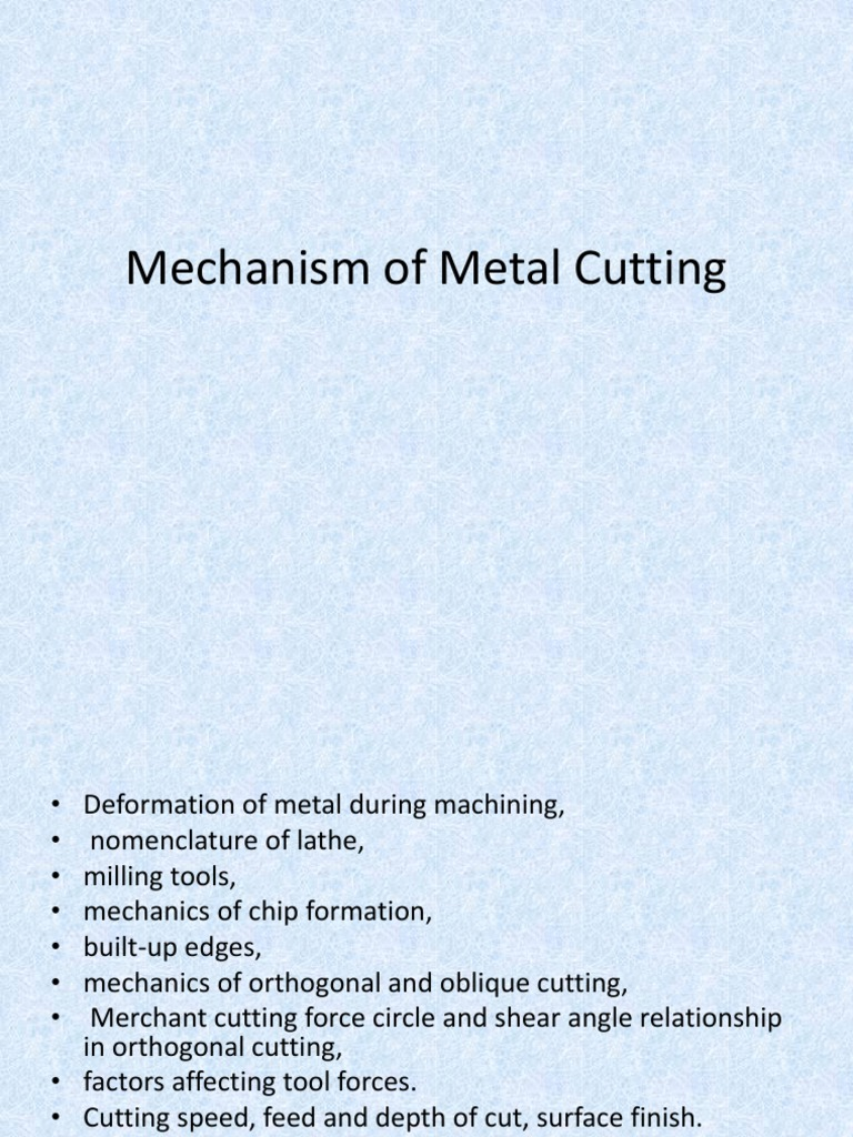 Mechanism of metal cuttingppt machining fracture ccuart Images