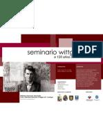 Afiche del Seminario Wittgenstein a 120 años de su nacimiento. 11 y 12 de junio 2009