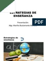 ESTRATEGIAS DE ENSEÑANZA.Presentación