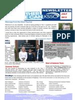 KSSC Newsletter July 2013