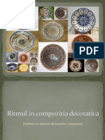Ritmul in Compozitia Decorativa