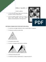 model de realizare a formelor de tip escher