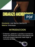 EMBRIOLOGIA - EMBARZO ANEMBRIONICO
