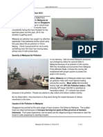Malaysia Air Polution in Year 2013