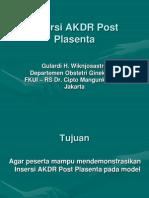 Insersi AKDR Post Plasenta Gulardi