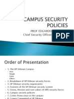Campus Security Policies, 26 Sept 2012