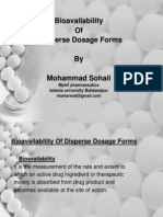 Bioavailability o Fdisperse Dosage Form