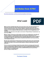 Wind Speed CODE Comparaison Mechanical Notes From K7NV