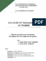 Culture Et Management Au Maroc